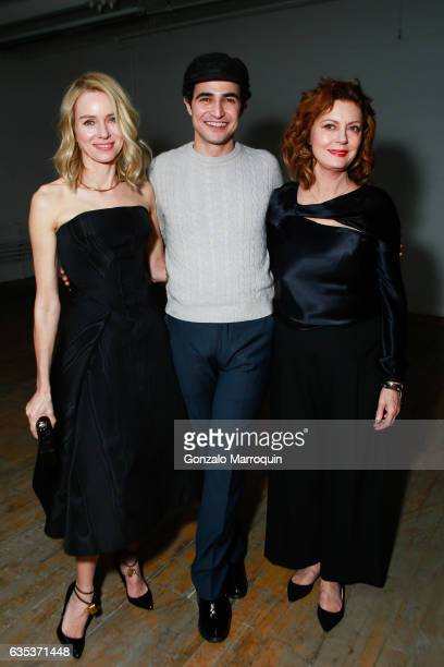Actresses Naomi Watts and Susan Sarandon joined designer Zac Posen at his Presentation during New York Fashion Week at 1317 Laight Street on February...