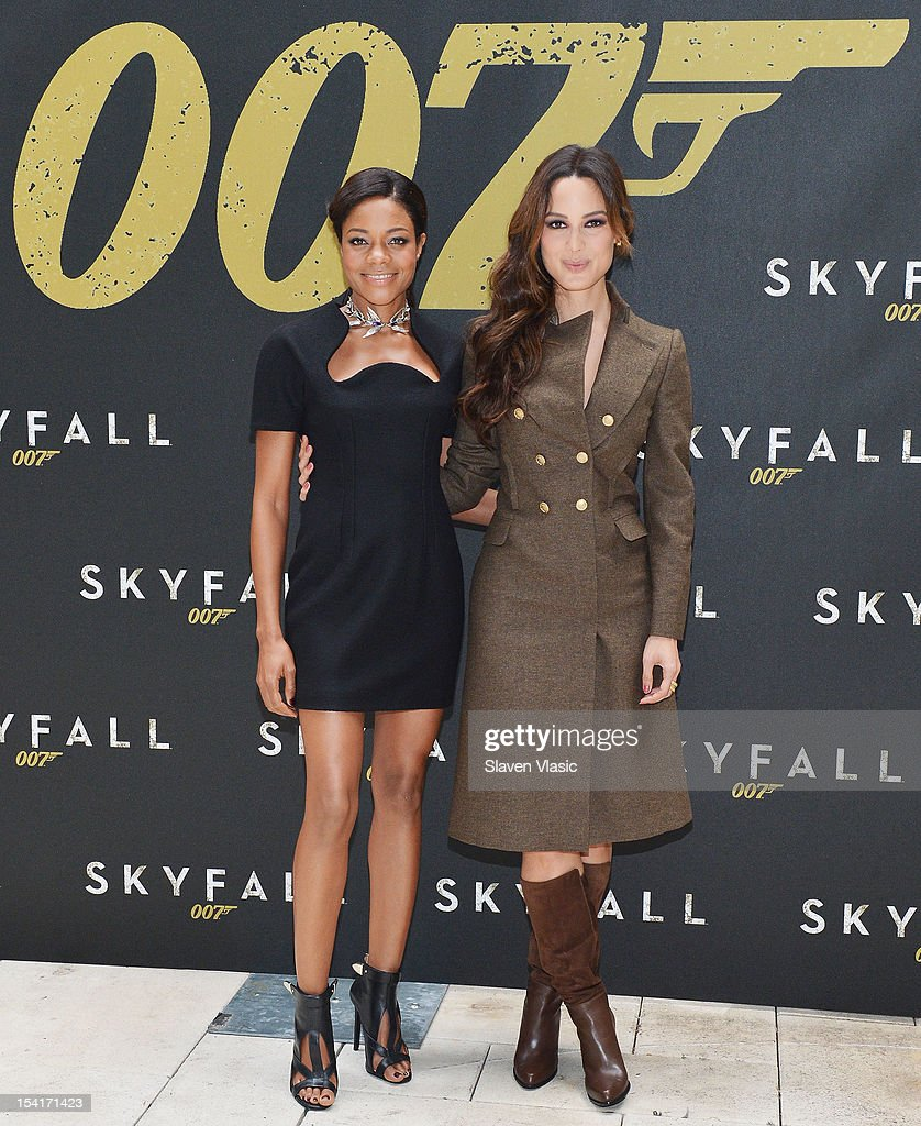 Actresses <a gi-track='captionPersonalityLinkClicked' href=/galleries/search?phrase=Naomie+Harris&family=editorial&specificpeople=238918 ng-click='$event.stopPropagation()'>Naomie Harris</a> and Bernice Marlohe attend 'Skyfall' Cast Photo Call at Crosby Street Hotel on October 15, 2012 in New York City.