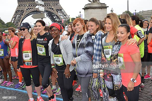 Actresses Natacha Regnier Frederique Bel comedian Claudia Tagbo Fauve Hautot Silvia Notargiacomo Tv presenter Stephanie Loire and Boxer Sarah...