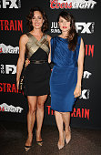 Actresses Natalie Brown and Mia Maestro attend the premiere of 'The Strain' at DGA Theater on July 10 2014 in Los Angeles California