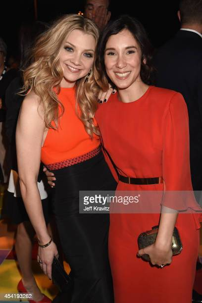 Actresses Natalie Dormer and Sibel Kekilli attend HBO's Official 2014 Emmy After Party at The Plaza at the Pacific Design Center on August 25 2014 in...