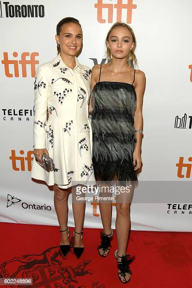 Actresses Natalie Portman and LilyRose Depp attend the 'Planetarium' premiere during the 2016 Toronto International Film Festival at Roy Thomson Hall...
