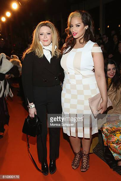Actresses Natasha Lyonne and Dascha Polanco attend the Opening Ceremony Fall 2016 fashion show during New York Fashion Week on February 14 2016 in...