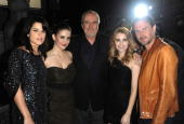 Actresses Neve Campbell and Alison Brie director Wes Craven and actors Emma Roberts and David Arquette attend Spike TV's 'Scream 2010' at The Greek...