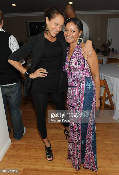 Actresses Nicole Ari Parker and Tamala Jones attend the '35 And Ticking' Film Wrap Party on May 28 2010 in Woodland Hills California