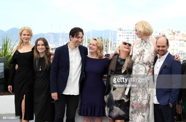 Actresses Nicole Kidman Alice Englert director Ariel Kleiman actress Elisabeth Moss director Jane Campion actress Gwendoline Christie and David...