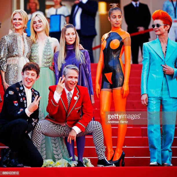 Actresses Nicole Kidman Elle Fanning actors Alex Sharp AJ Lewis director John Cameron Mitchell and costume designer Sandy Powell and the cast of the...