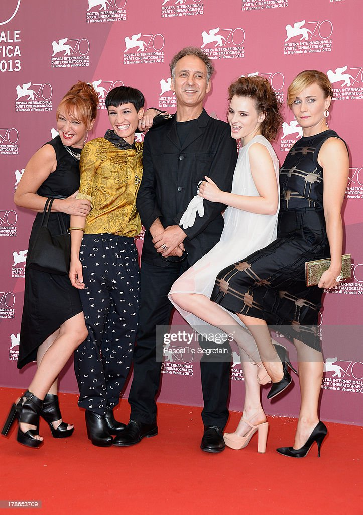 Actresses Nicoletta Maragno, Roberta Da Soller, director Alessandro Rossetto and actresses Maria Roveran and Lucia Mascino attend the 'Piccola Patria' Photocall during The 70th Venice International Film Festival at Palazzo Del Casino on August 30, 2013 in Venice, Italy.