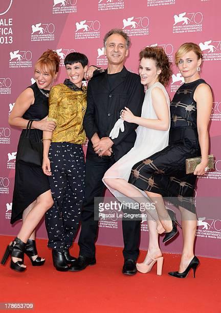 Actresses Nicoletta Maragno Roberta Da Soller director Alessandro Rossetto and actresses Maria Roveran and Lucia Mascino attend the 'Piccola Patria'...