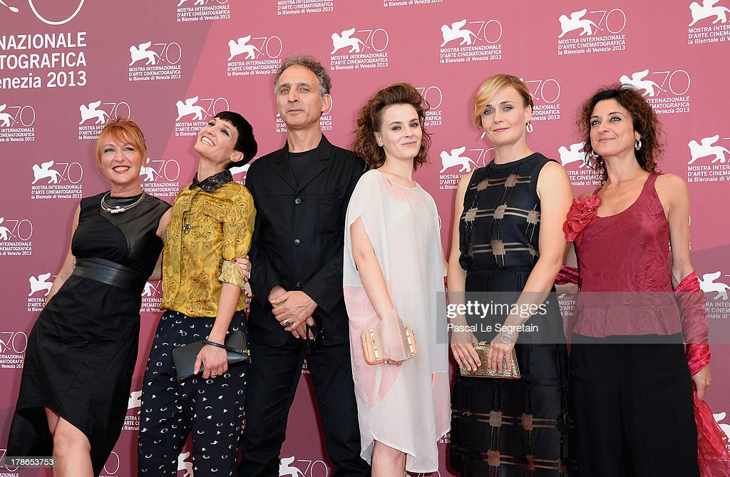 Actresses Nicoletta Maragno, Roberta Da Soller, director Alessandro Rossetto and actresses Maria Roveran, Lucia Mascino and guest attend the 'Piccola Patria' Photocall during The 70th Venice International Film Festival at Palazzo Del Casino on August 30, 2013 in Venice, Italy.