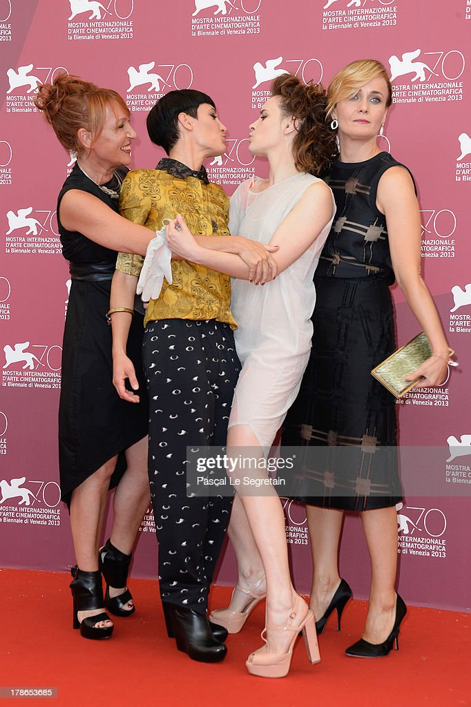 Actresses Nicoletta Maragno, Roberta Da Soller, Maria Roveran and Lucia Mascino attends the 'Piccola Patria' Photocall during The 70th Venice International Film Festival at Palazzo Del Casino on August 30, 2013 in Venice, Italy.