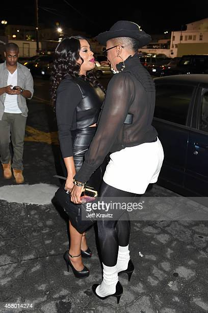 Actresses Niecy Nash and Aisha Hinds attend the HBO 'Getting On' Season 2 Los Angeles Premiere at Avalon on October 28 2014 in Hollywood California