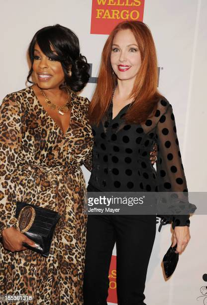 Actresses Niecy Nash and Amy Yasbeck attend the 9th Annual GLSEN Respect Awards held at the Beverly Hills Hotel on October 18 2013 in Beverly Hills...