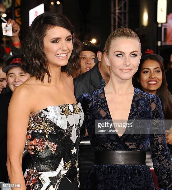 Actresses Nina Dobrev and Julianne Hough attend the premiere of 'xXx Return of Xander Cage' at TCL Chinese Theatre IMAX on January 19 2017 in...