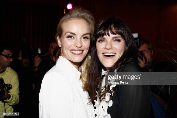 Actresses Nina Hoss and Fritzi Haberlandt attend the 'Fenster zum Sommer' premiere at Kino International on November 3 2011 in Berlin Germany