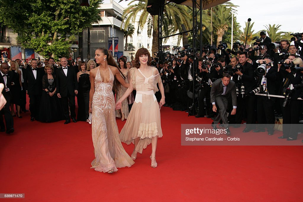 Actresses Noemie Lenoir and Milla Jovovich at the premiere of 'Chromophobia' during the 58th Cannes Film Festival.