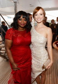 Actresses Octavia Spencer and Ahna O'Reilly attend the Fruitvale Station Cannes screening dinner held aboard the Harle Yacht on May 16 2013 in Cannes...