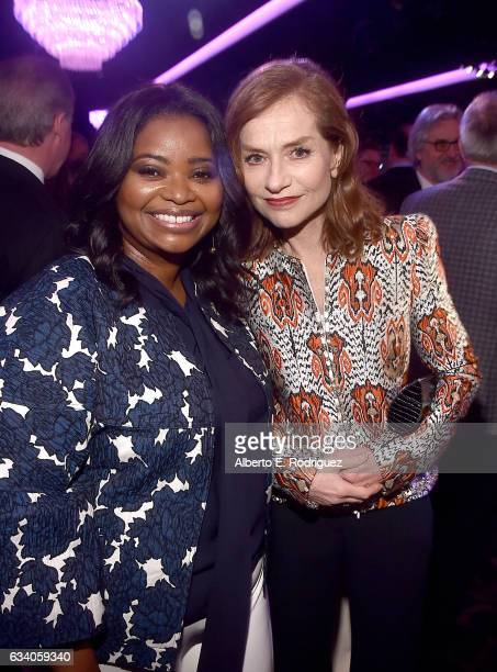 Actresses Octavia Spencer and Isabelle Huppert attend the 89th Annual Academy Awards Nominee Luncheon at The Beverly Hilton Hotel on February 6 2017...