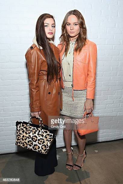 Actresses Odeya Rush and Brie Larson attend the Coach presentation during MercedesBenz Fashion Week Fall 2015 on February 12 2015 in New York City