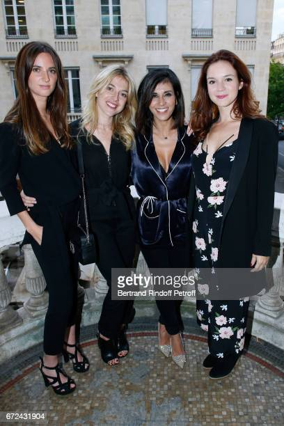 Actresses of the movie Amelie Fonlupt Victoria Monfort Director and actress of the movie Reem Kherici and actress of the movie Eve SaintLouis attend...