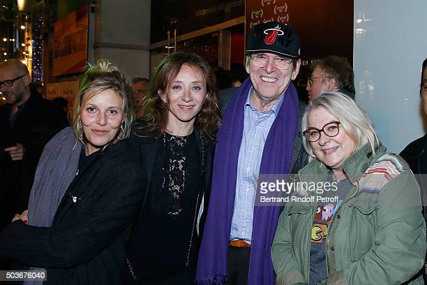 Actresses of the movie Florence Thomassin Sylvie Testud Director JeanMarie Poire and Actress of the movie Josiane Balasko and her husband attend the...