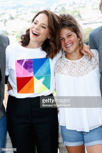 Actresses of the movie 'Le rire de ma mere' Suzanne Clement and Salome Larouquie attend the 10th Angouleme FrenchSpeaking Film Festival Day Three on...