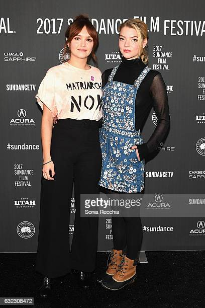 Actresses Olivia Cooke and Anya TaylorJoy attend the 'Thoroughbred' premiere on day 3 of the 2017 Sundance Film Festival at Library Center Theater on...