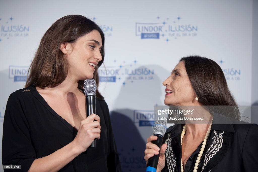 Actresses Olivia Molina and mother Angela Molina present 'Ilusion Por el Dia a Dia' Campaign at Espacio CoolRoom on November 20, 2012 in Madrid, Spain.