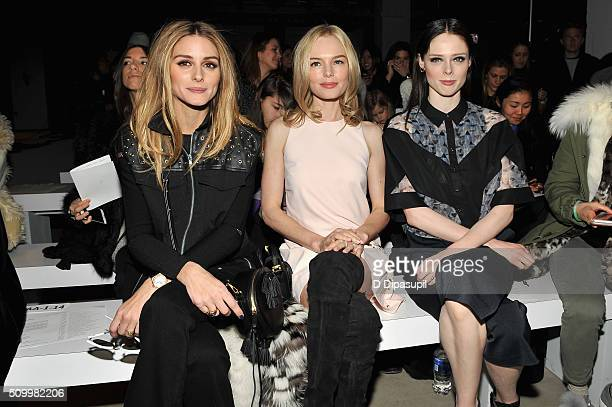 Actresses Olivia Palermo Kate Bosworth and Model Coco Rocha attend the Rebecca Minkoff Fall 2016 fashion show during New York Fashion Week The Shows...