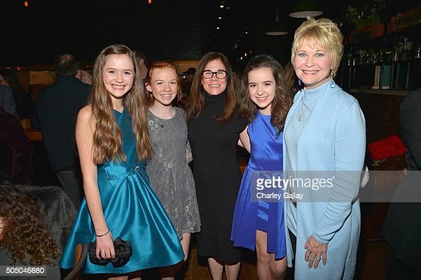 Actresses Olivia Sanabia Abby Donnelly Amazon Studios Head of Kids Programming Tara Sorensen actresses Aubrey K Miller and Dee Wallace attend Amazon...