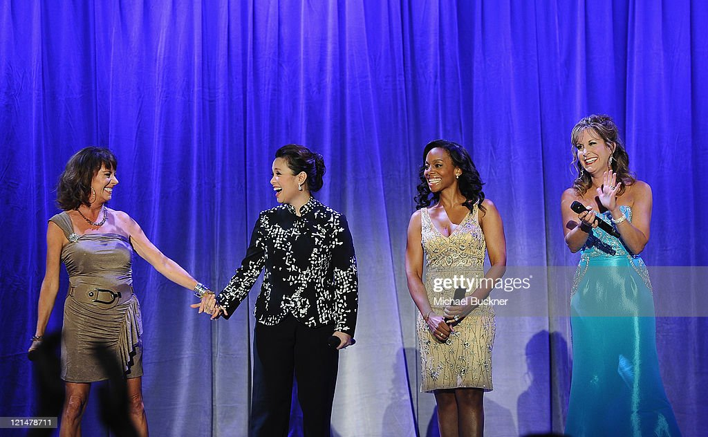 Actresses Paige O'Hara, Lea Salonga, Anika Noni Rose and Jodi Benson attend the Disney Legends Awards Ceremony during the D23 Expo 2011 at the Anaheim Convention Center on August 19, 2011 in Anaheim, California.