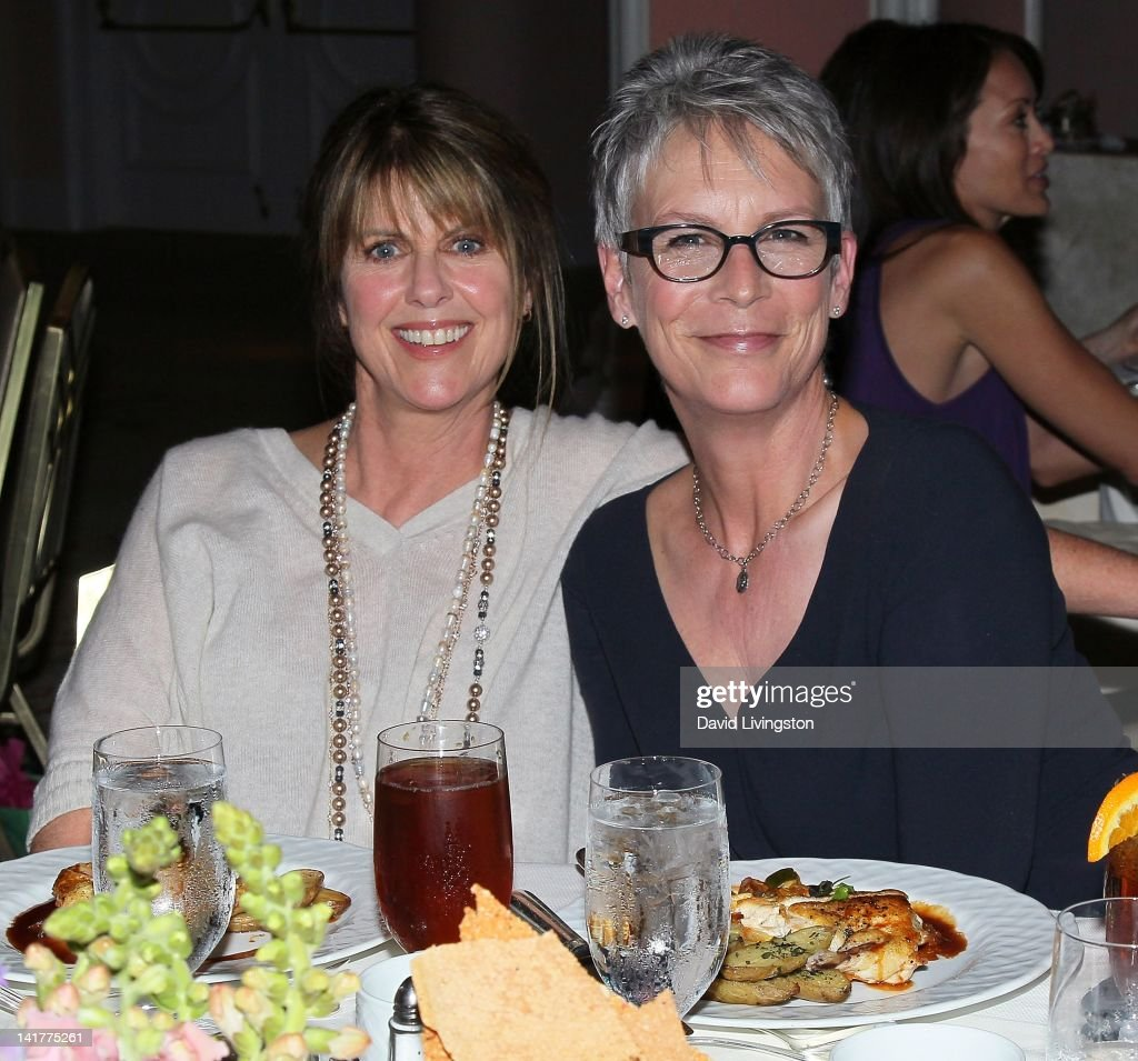 Actresses Pam Dawber and Jamie Lee Curtis attend Big Brothers Big Sisters of Greater Los Angeles presents Accesories for Success at The Beverly Hills...