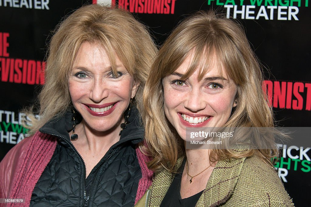 Actresses Pamela Shaw (L) and Maren Bush attend 'The Revisionist' Opening Night at Cherry Lane Theatre on February 28, 2013 in New York City.