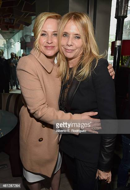 Actresses Patricia Arquette and Rosanna Arquette attend the 2015 Film Independent Filmmaker Grant and Spirit Awards nominee brunch at BOA Steakhouse...