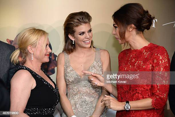 Actresses Patricia Arquette AnnaLynne McCord and Moran Atias attend the 8th annual Hollywood Domino Gala presented by BOVET 1822 benefiting Artists...
