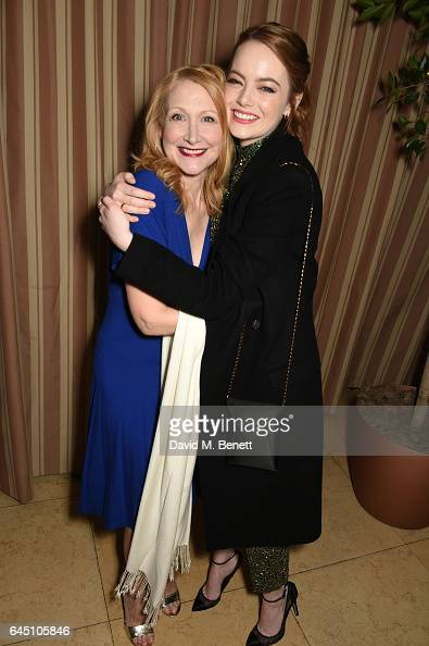 Actresses Patricia Clarkson and Emma Stone attend a dinner to celebrate The GCC and The Journey To Sustainable Luxury on February 24 2017 in Los...
