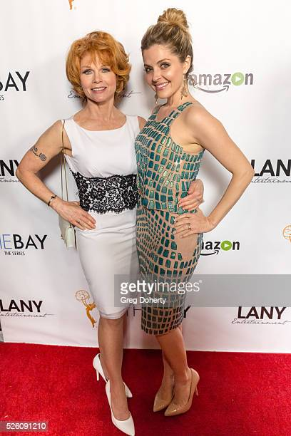 Actresses Patsy Pease and Jen Lilley attend the LANY Entertainment Presents 'The Bay' PreEmmy Party at the St Felix on April 28 2016 in Hollywood...