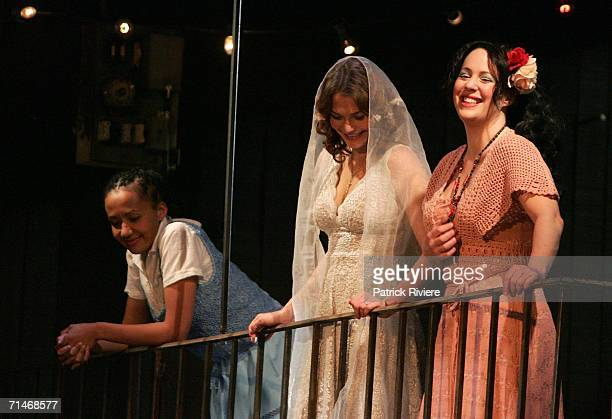 Actresses Paula Arundell Leanna Walsman and Sacha Horler perform during a photo call and dress rehearsal for Peribanez at the Seymour Centre July 18...