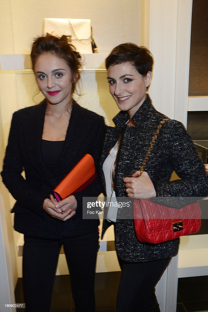 Actresses Pauline Burlet and Clemence Thioly attend the Christian Dior Shop Cocktail during the Vogue Fashion Night Out on Rue Saint Honore on September 17, 2013 in Paris, France.
