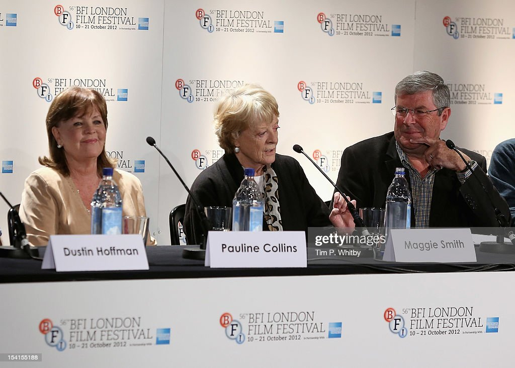 Actresses Pauline Collins, Maggie Smith and Quentin Falk as they attend the 'Quartet' press conference during the BFI London Film Festival at the Empire Leicester Square on October 15, 2012 in London, England.