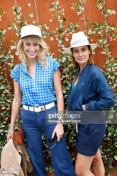 Actresses Pauline Lefevre and Julie de Bona attend the 2017 French Tennis Open Day Three at Roland Garros on May 30 2017 in Paris France