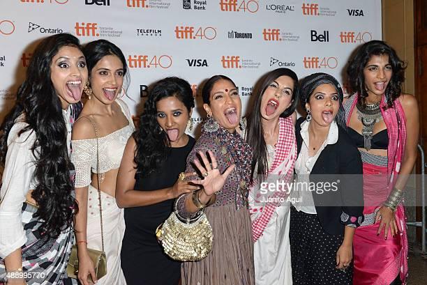 Actresses Pavleen Gural SarahJane Dias Tannishtha Chatterjee Sandhya Mridul Amrit Maghera Rajshri Deshpande and Anushka Manchanda attend the premiere...
