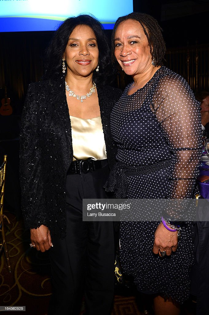 Actresses Phylicia Rashad and Epatha Merkerson attend Lupus Foundation of America Butterfly Gala 2012 at Gotham Hall on October 18, 2012 in New York City.