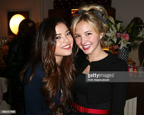 Actresses Piper Curda and Audrey Whitby attend G Hannelius's 16th Birthday Celebration at Palihouse on December 13 2014 in West Hollywood California