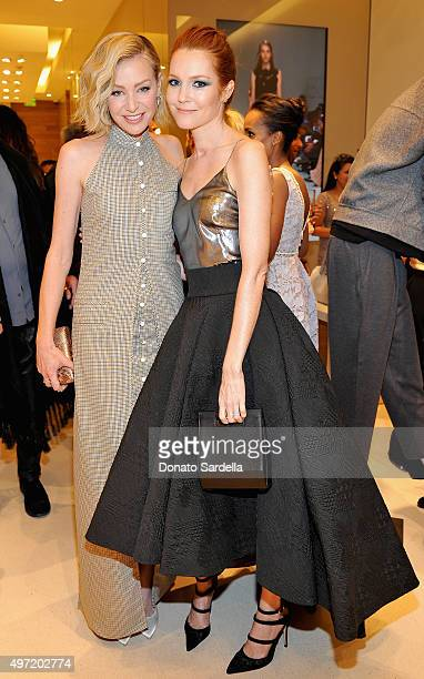 Actresses Portia de Rossi and Darby Stanchfield attend 'MaxMara Allure Celebrate ABC's #TGIT' at MaxMara on November 14 2015 in Beverly Hills...