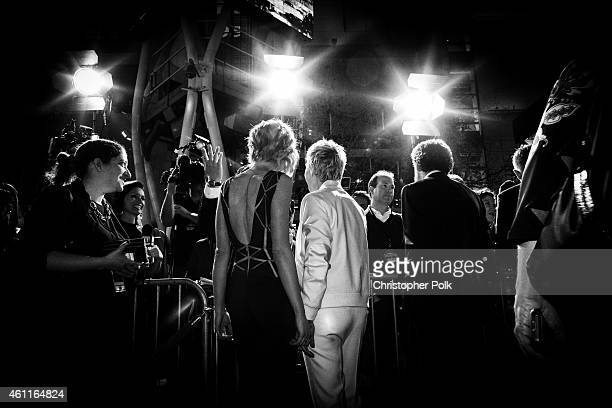 Actresses Portia De Rossi and Ellen DeGeneres attend The 41st Annual People's Choice Awards at Nokia Theatre LA Live on January 7 2015 in Los Angeles...