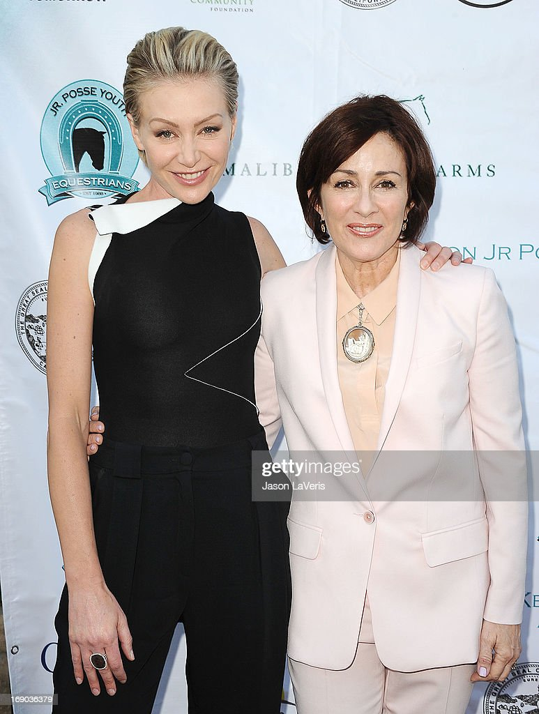 Actresses <a gi-track='captionPersonalityLinkClicked' href=/galleries/search?phrase=Portia+de+Rossi&family=editorial&specificpeople=204197 ng-click='$event.stopPropagation()'>Portia de Rossi</a> and <a gi-track='captionPersonalityLinkClicked' href=/galleries/search?phrase=Patricia+Heaton&family=editorial&specificpeople=173459 ng-click='$event.stopPropagation()'>Patricia Heaton</a> attend the 6th annual Compton Jr. Posse gala at Los Angeles Equestrian Center on May 18, 2013 in Los Angeles, California.