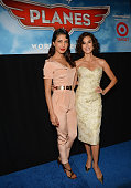 Actresses Priyanka Chopra and Teri Hatcher attend the premiere of Disney's 'Planes' at the El Capitan Theatre on August 5 2013 in Hollywood California