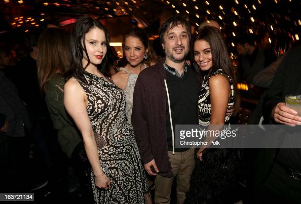 Actresses Rachel Korine Ashley Benson Writer/director Harmony Korine and actress Vanessa Hudgens attend the 'Spring Breakers' premiere after party at...