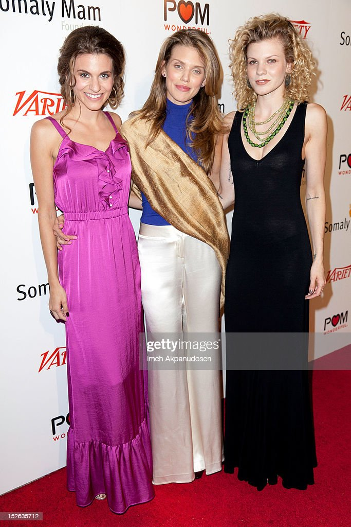 Actresses Rachel McCord, AnnaLynne McCord, and Angel McCord attend a 'Life Is Love' event benefitting The Somaly Mam Foundation on September 22, 2012 in Los Angeles, California.